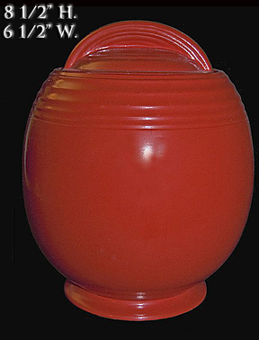 Hall 5 Band Red Cookie Jar