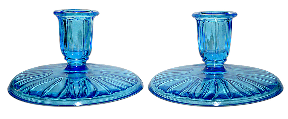 Dell Tulip Candlesticks - Blue