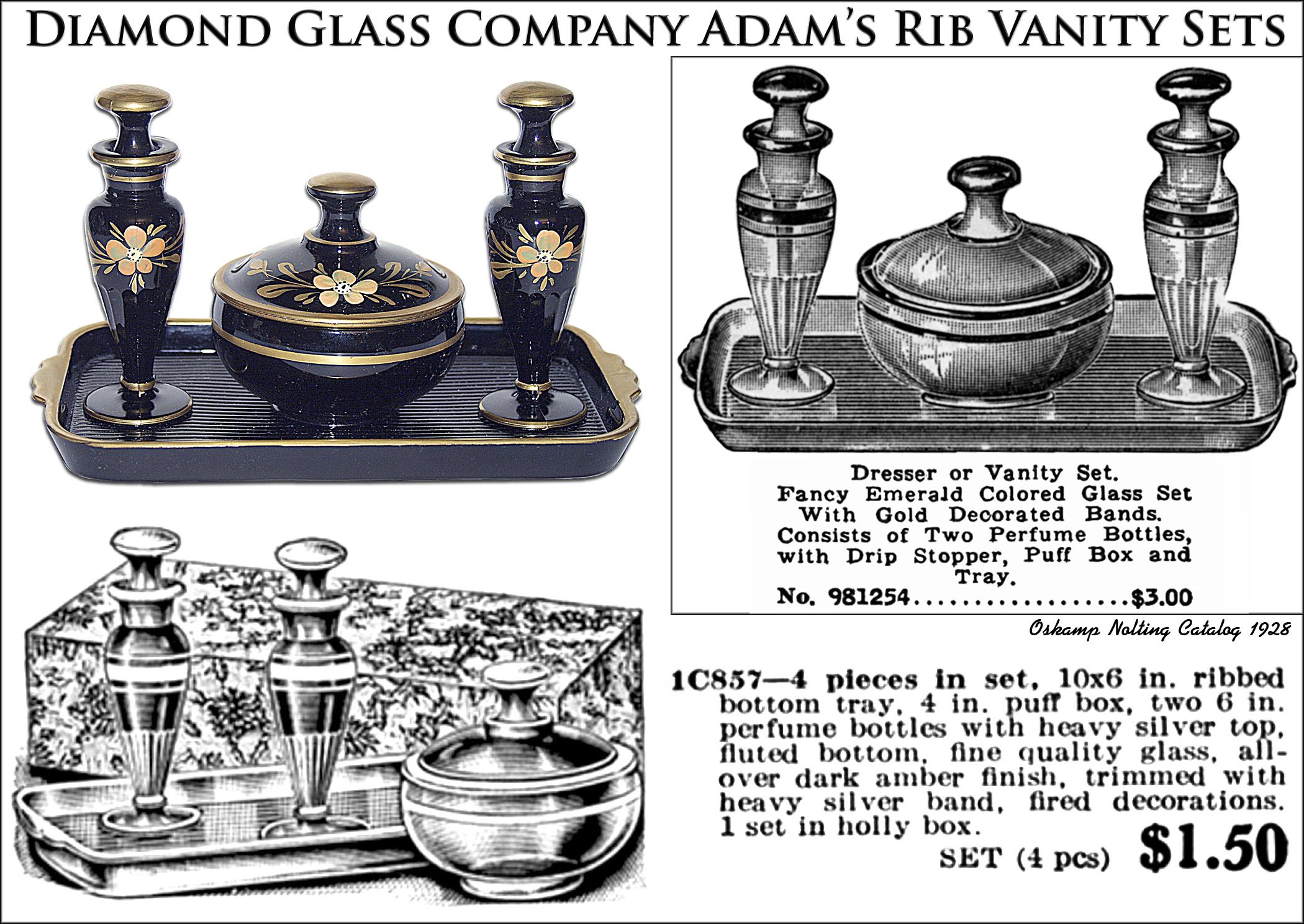 Diamond Vanity #900 Adams Rib Vanity Sets