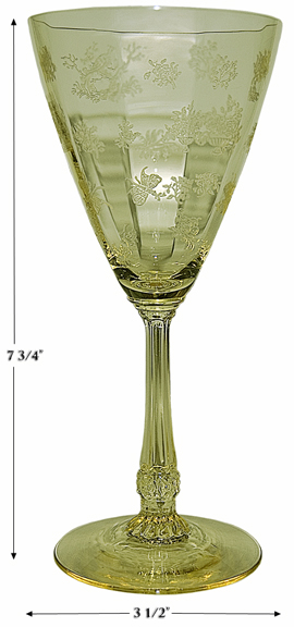 Heisey Chintz Saharra Water Goblet