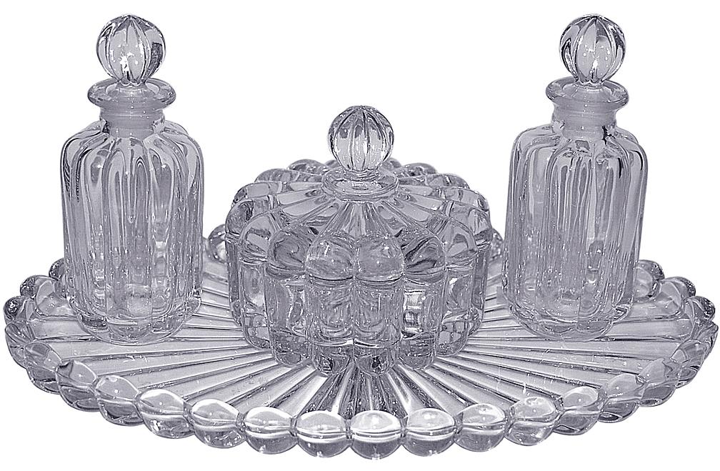 Heisey Crystolite Vanity Set