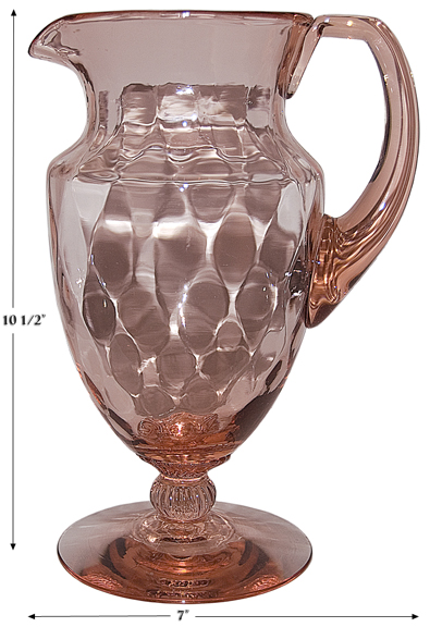 Heisey Diamond Optic Footed Jug