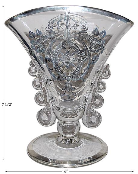 Heisey Lariat Silver Overlay Vase