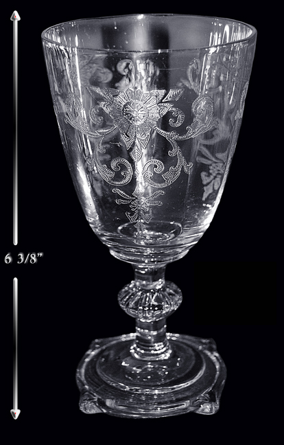 Heisey Old Colony Water Goblet