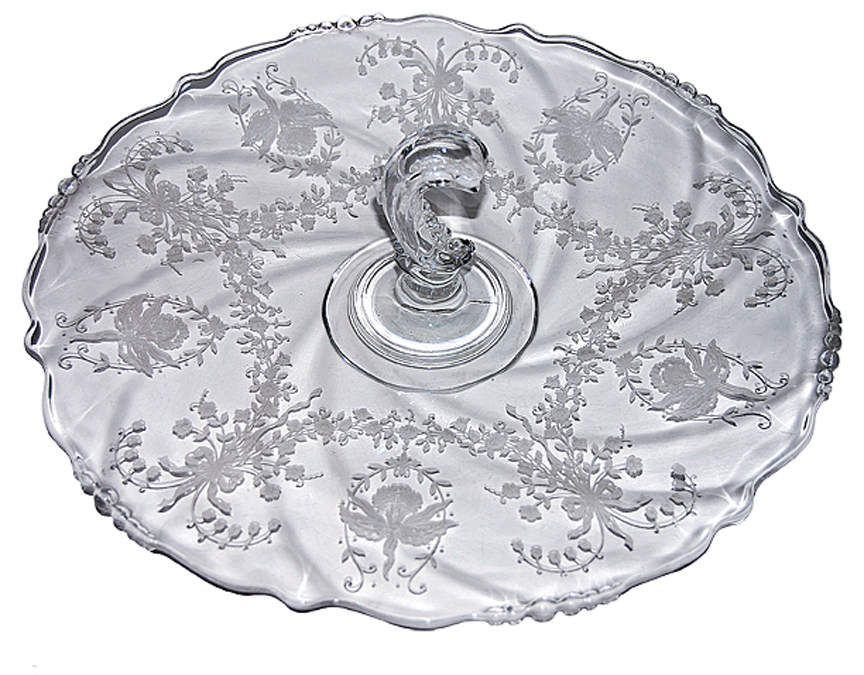 Heisey Orchid Sandwich Server