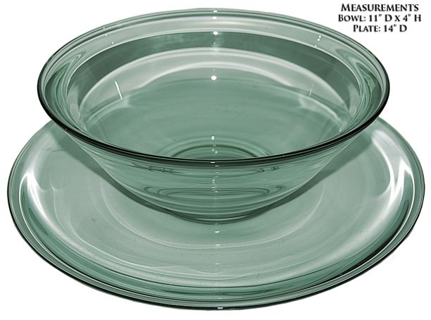 Heisey Town and Country Bowl and Plate