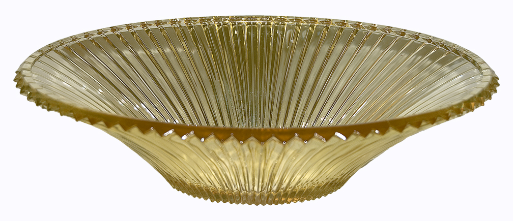 Heisey Ridgeleigh Saharra Oval Bowl