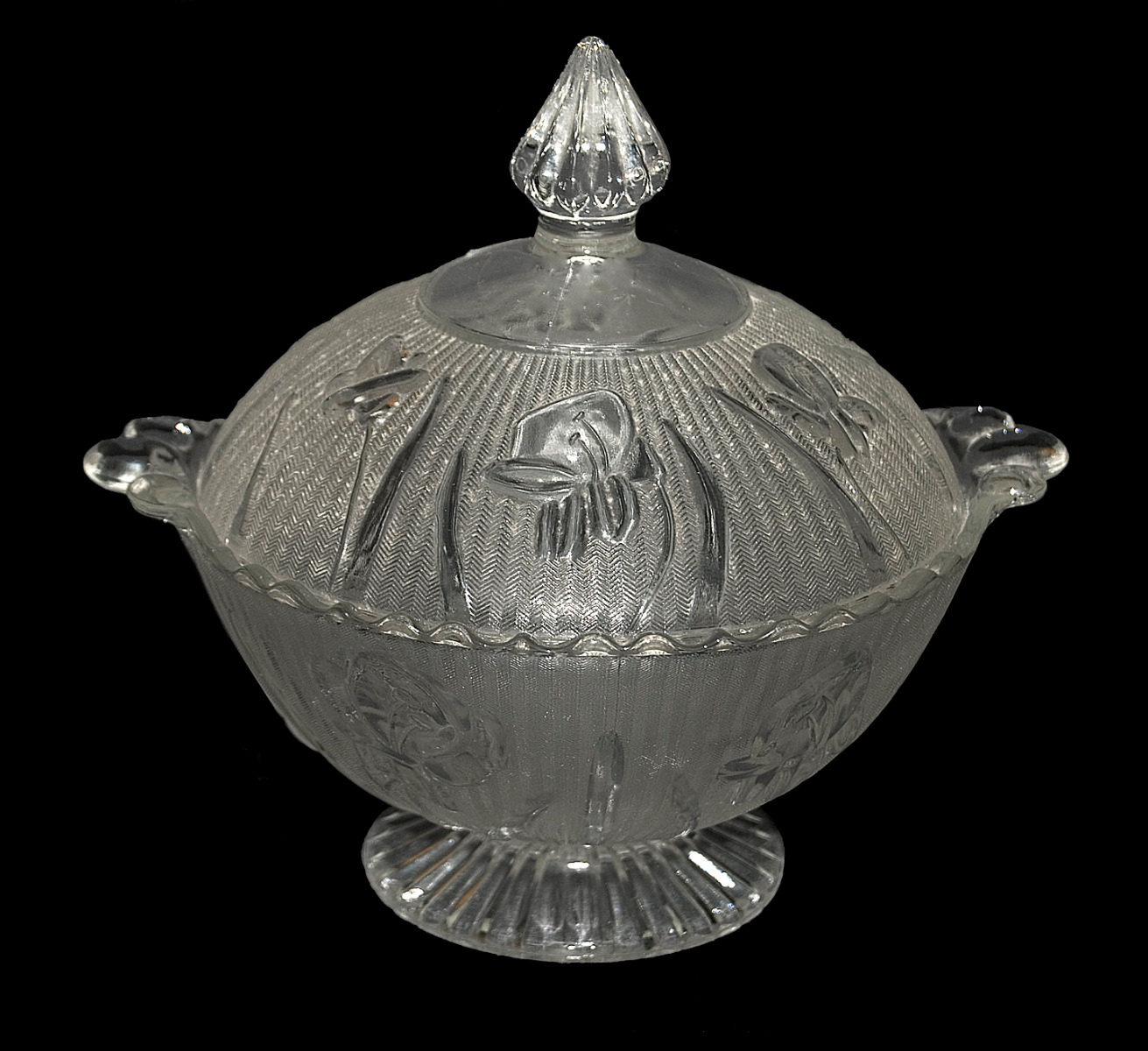 Jeannette Crystal Iris Candy Dish