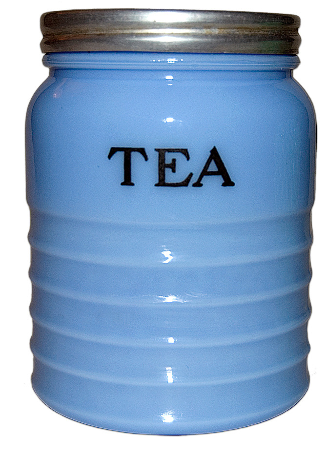 Delphite Ribbed Tea Canister