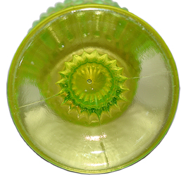 Fenton Hobnail Vase Bottom in Topaz