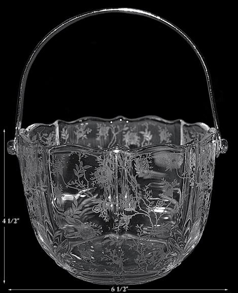 Fostoria Chintz Ice Bucket and Tongs