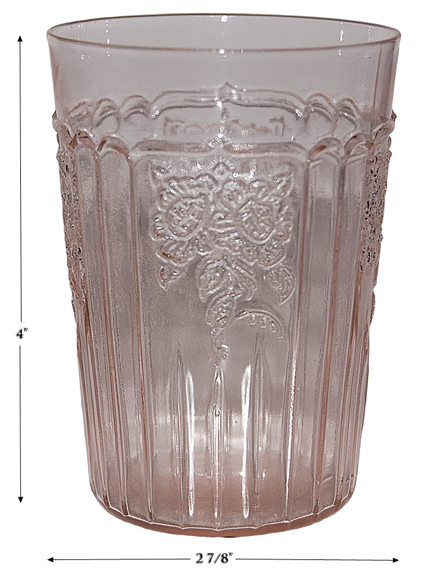 Hocking Pink Mayfair Flat Water Tumbler