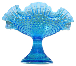 Fenton BO Hobnail Footed Fruit Bowl TOS