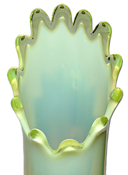 Fenton Topaz Hobnail Footed Vase Top