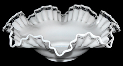 Crystal Crest 10 Inch Double Crimped Bowl Side