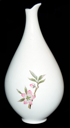 Hall Peach Blossom Bud Vase TOS