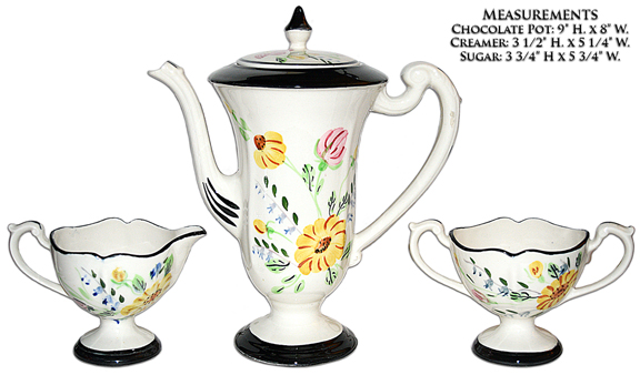 Blue Ridge Midnight Chocolate Pot Set