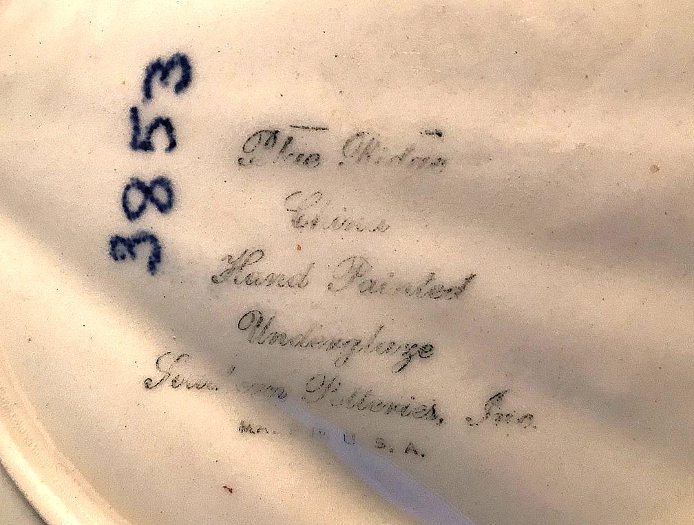 Blue Ridge Tussie Mussie Backstamp