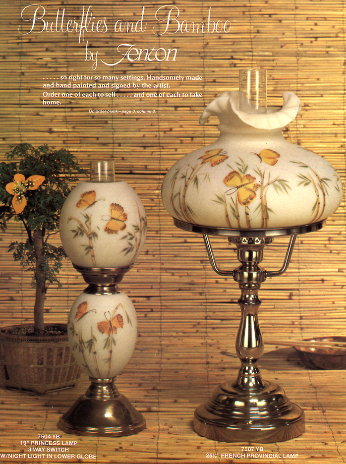 Fenton Butterflies and Bamboo Catalog Page