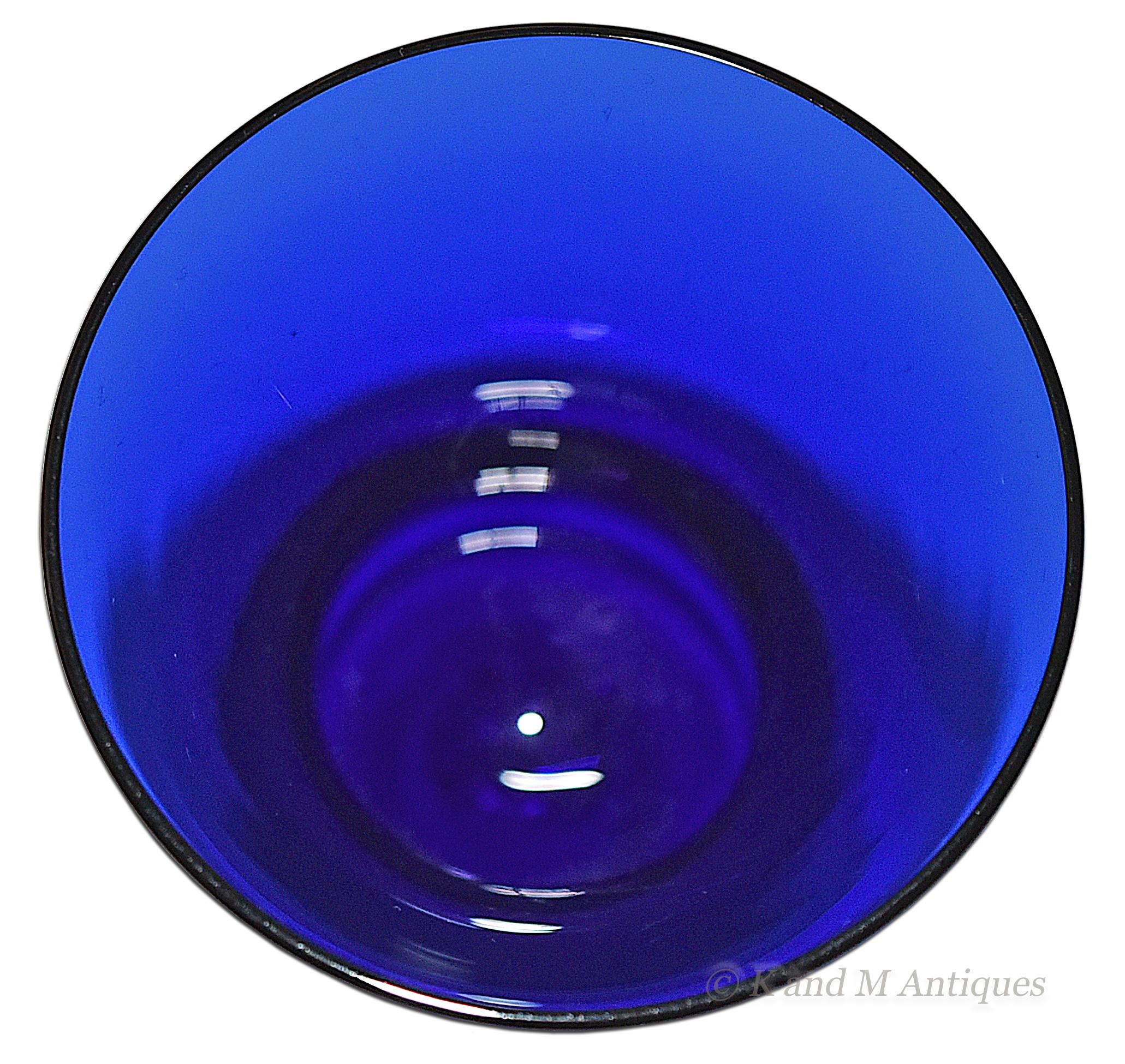 Cambridge #3500 Cobalt Water Goblet Bowl Looking Down