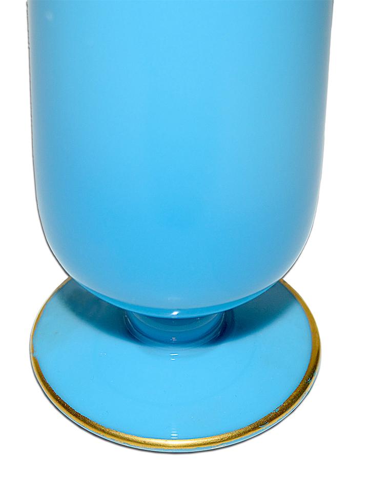 Cambridge Azurite Blue Bud Vase Minor Base Wear