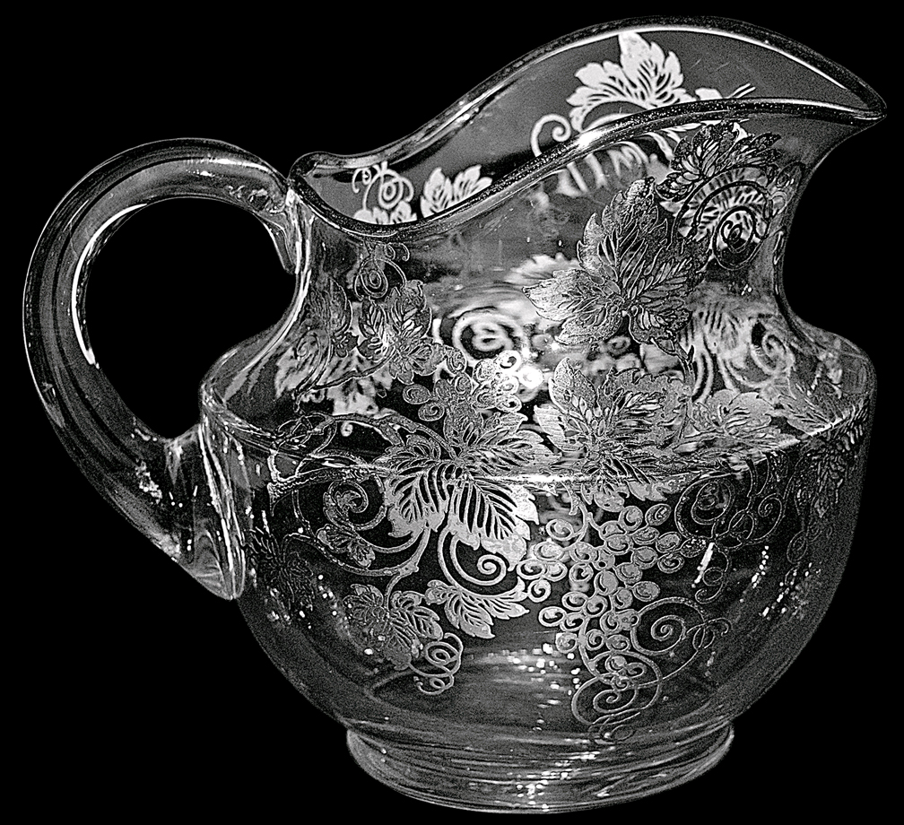 Cambridge Silver City Vintage Decorated Jug THE OTHER SIDE
