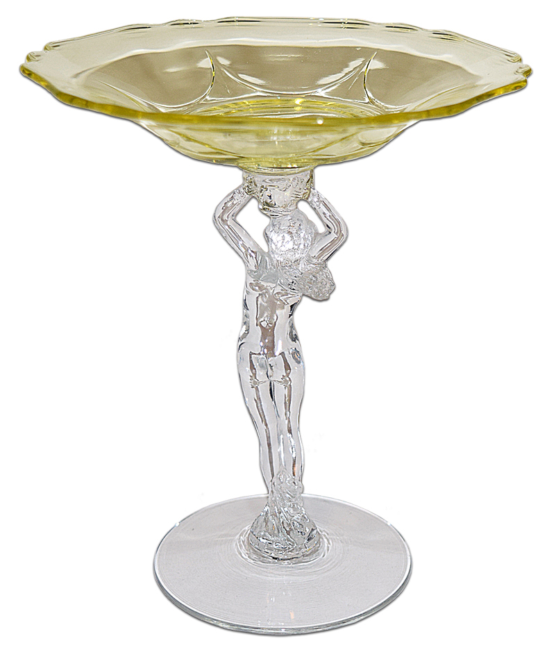 Cambridge Statuesque Gold Krystol Large Compote The Back
