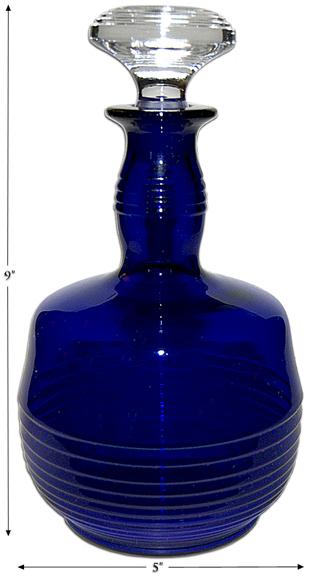 Cambridge Tally Ho Decanter in Cobalt