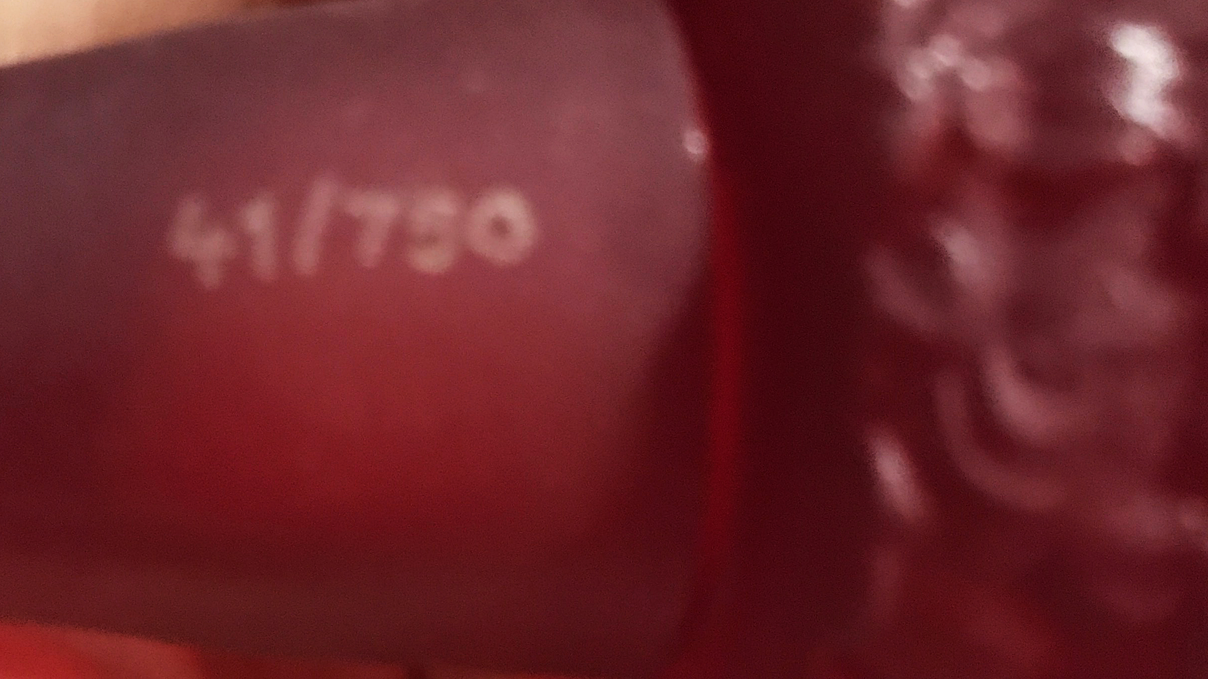 Czechoslovakain Red Nude Perfume Bottle Number