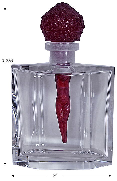 Czechoslovakain Red Nude Perfume Bottle