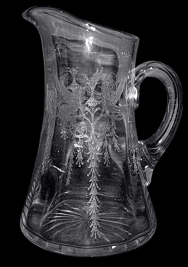 Central Glass Works Harding Crystal #50 Pitcher / Jug