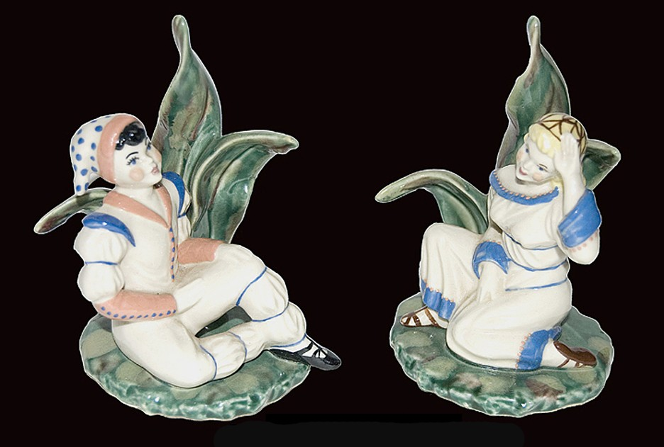 "Ceramic Arts Peter Pan & Wendy 5 1/4"" Figures"