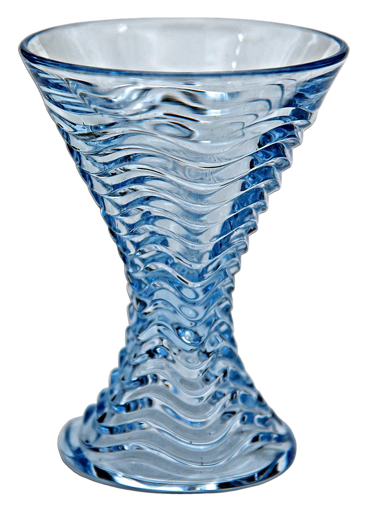 Duncan and Miller #112 Caribbean Blue Cocktail Goblet