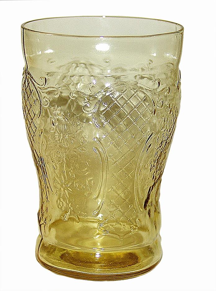 Federal Glass Normandie Amber Flat Water Tumbler