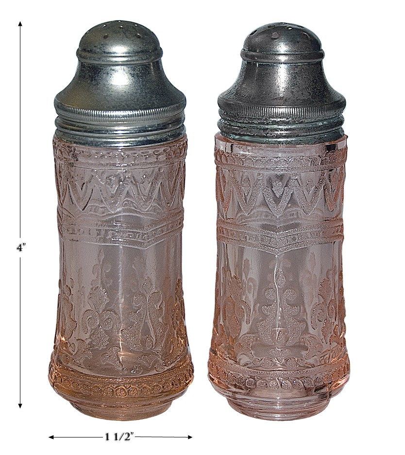 Federal Patrician Pink Salt and Pepper Shakers