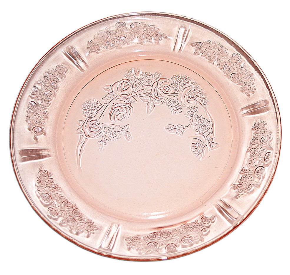 Federal Glass Company Sharon Pink Dinner Plate - PRISTINE!!