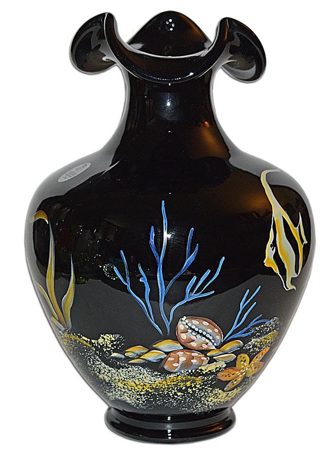 Fenton 2006 Paradise Collection #4262 HK Underwater Scene Vase
