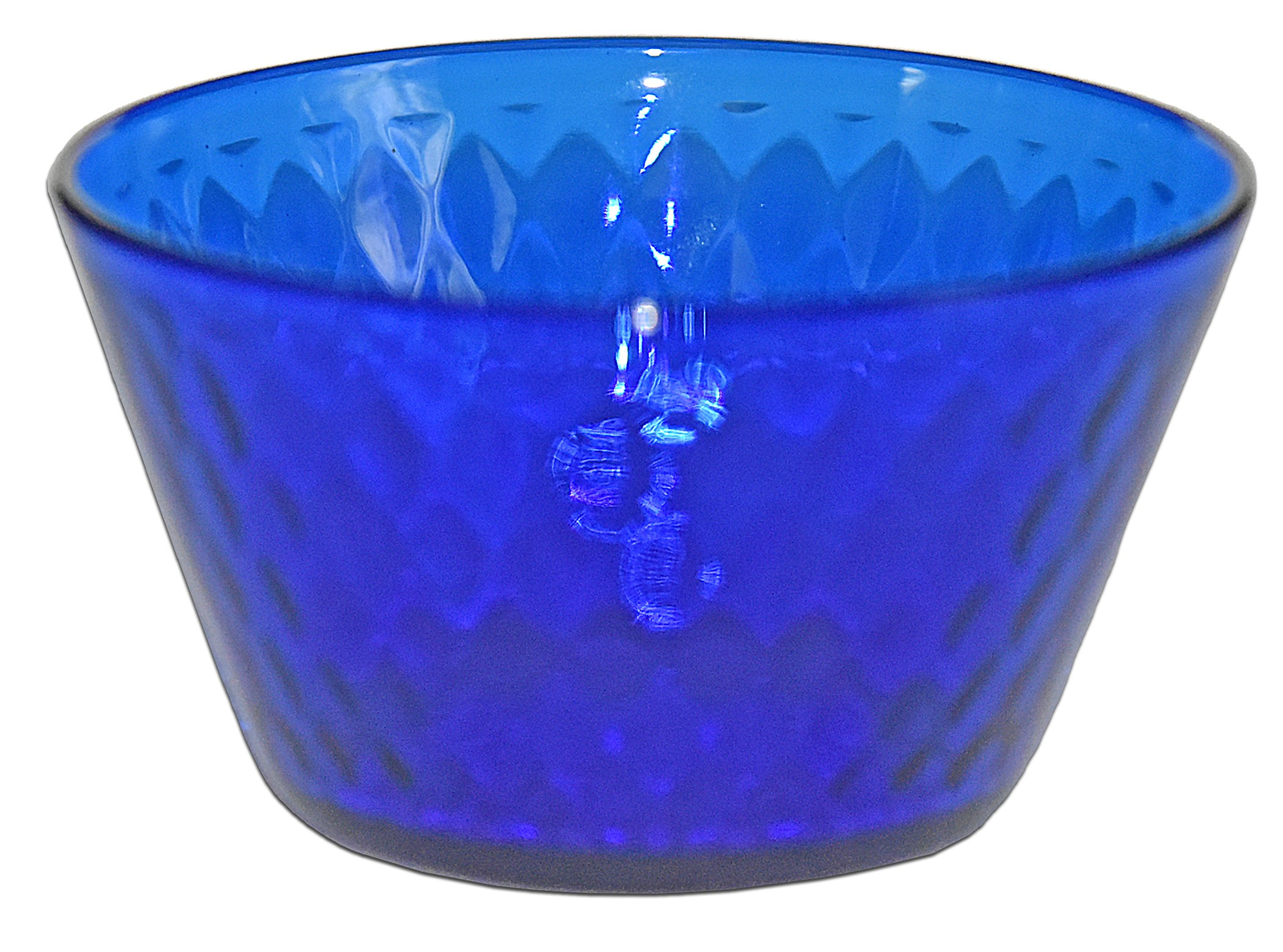 Fenton Royal Blue / Cobalt Diamond Optic #1502 Finger Bowl