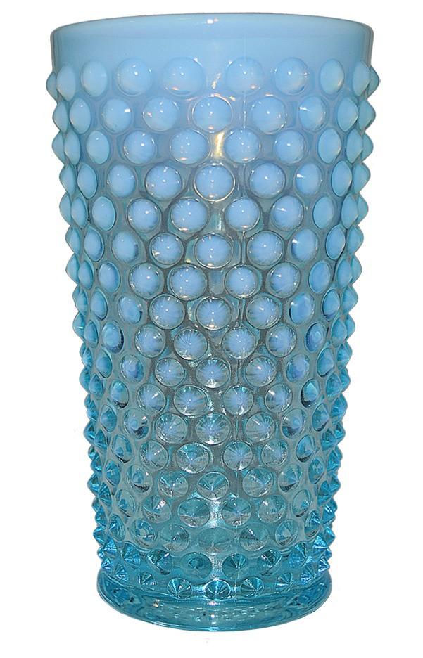 Fenton Hobnail Blue Opalescent #3946 - 16 ounce Lemonade Tumbler SCARCE