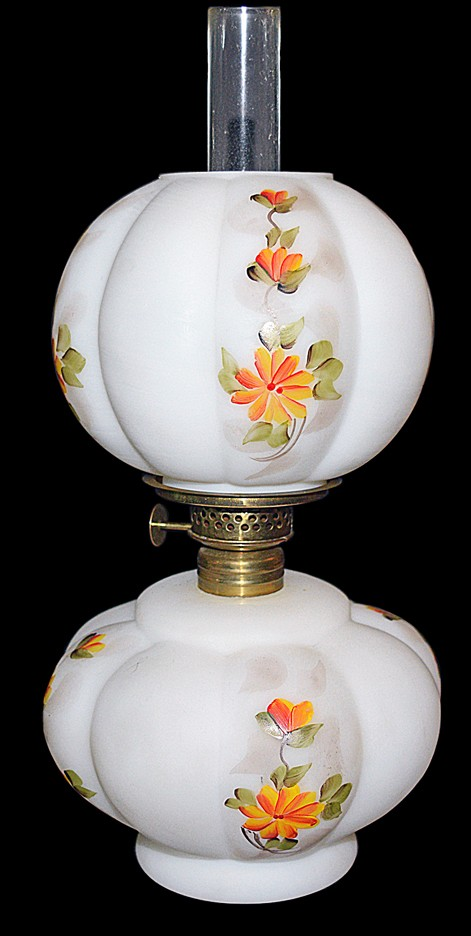 Fenton / Wright Buttercup #797 Fluted Miniature Toy Lamp Deco