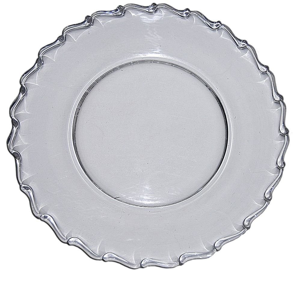 "Fostoria Century Crystal 10 1/4"" Dinner Plate"