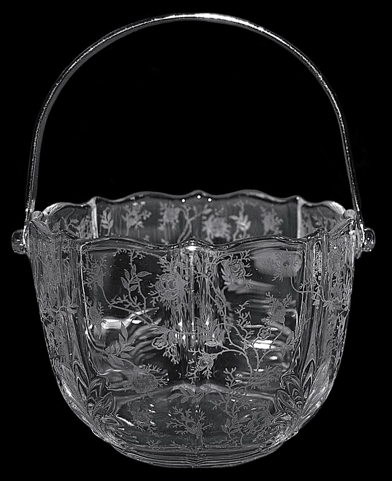 Fostoria Chintz #2496 - Ice Bucket with Tongs