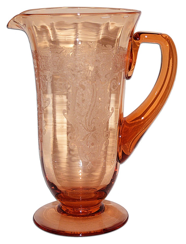Fostoria Vesper Amber Footed Pitcher / Jug