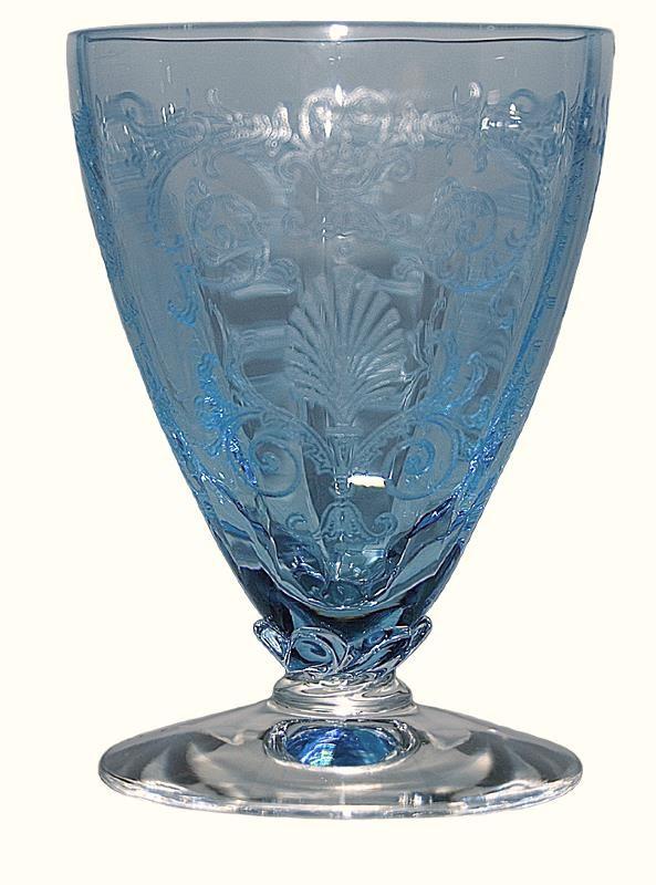 Fostoria Versailles Blue #5298 2 1/2 oz. Ftd Bar Tumbler