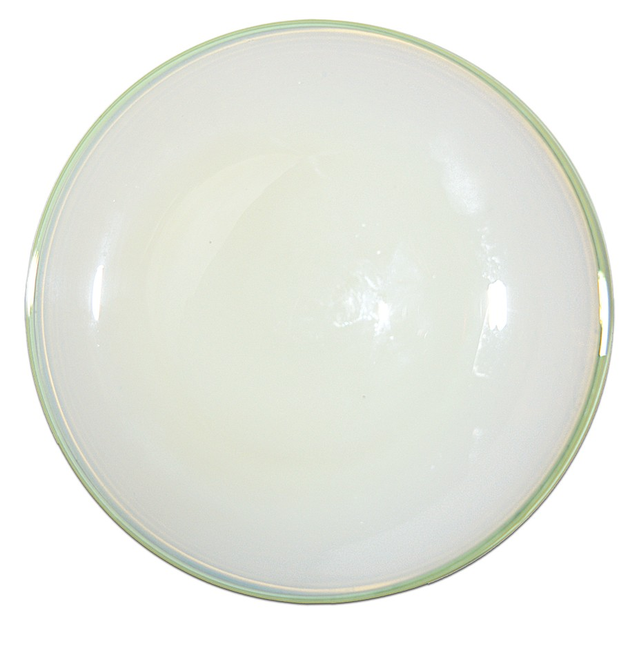 """Fry Foval Green Trim 8 1/4"""" Luncheon Plate - Hard to Find"""