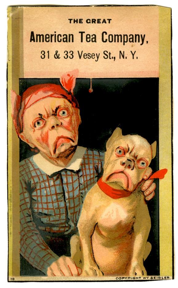 Great American Tea Company Bull Dog Trade Card