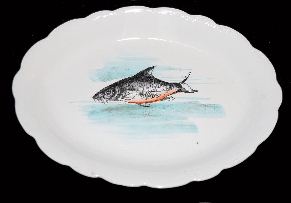 Hall China Early 1900s Oval Fish Platter SOLD