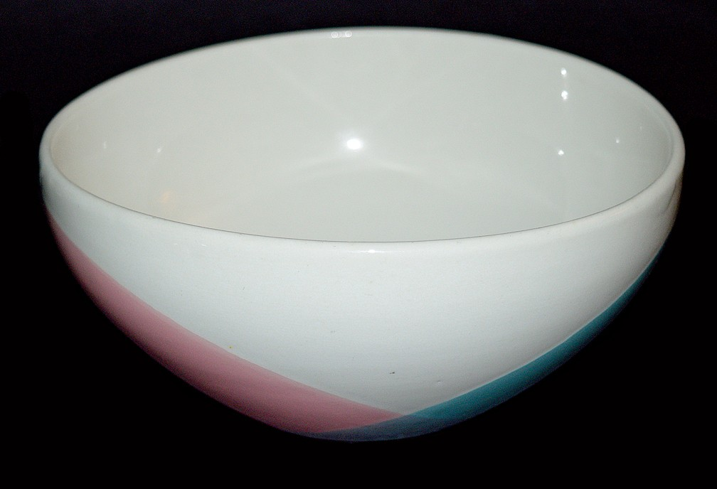Hall China Tritone Hard to Find Individual Cereal Bowl Mid Century Modern
