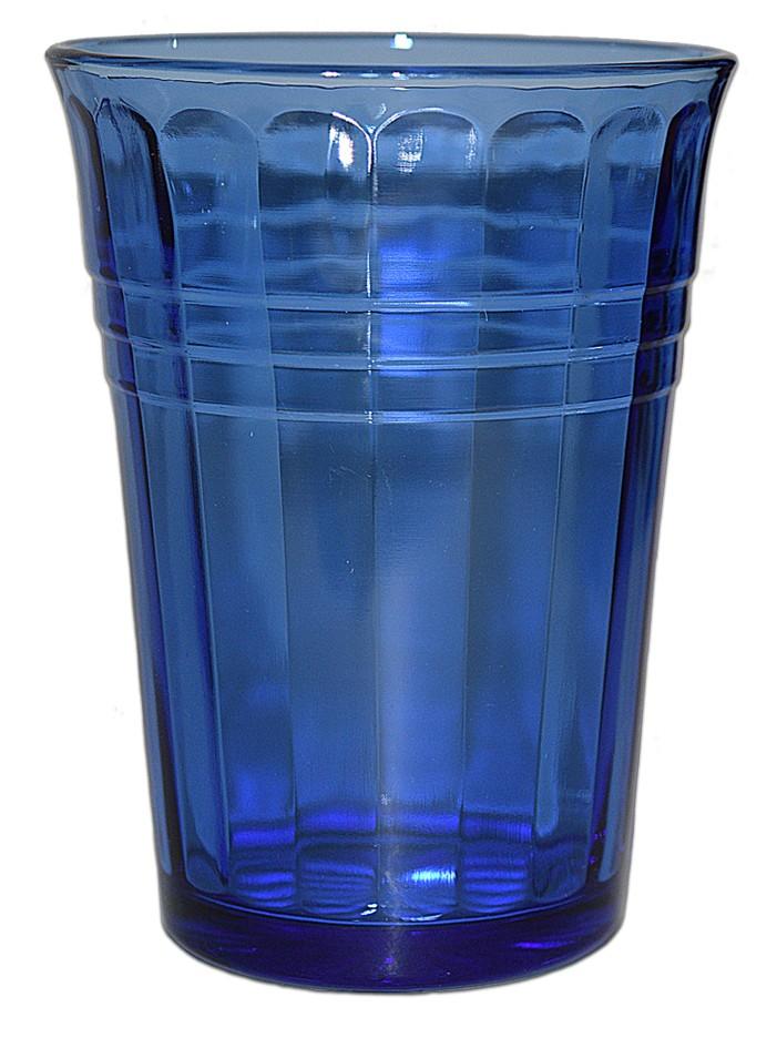 Hazel Atlas Moderntone Cobalt Blue 9 oz. Water Tumbler