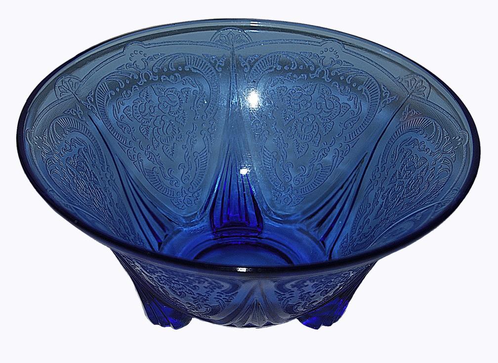 Hazel Atlas Royal Lace Cobalt Blue Nut Dish - RARE